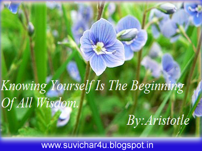Knowing yourself is the beginning of all wisdom. By aristole
