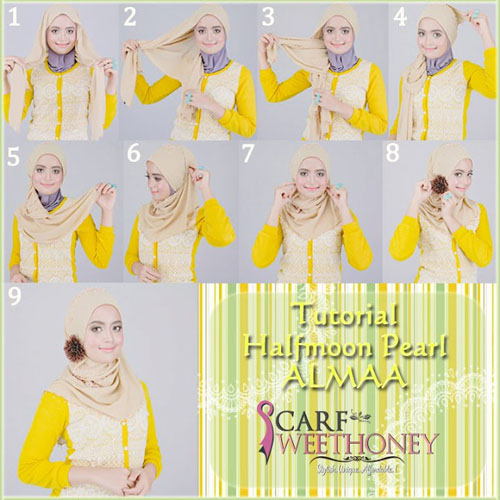 cara memakai hijab modern 2