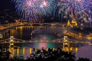 Fuegos artificiales en Budapest