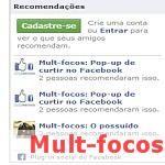 Gadget recomendações do facebook