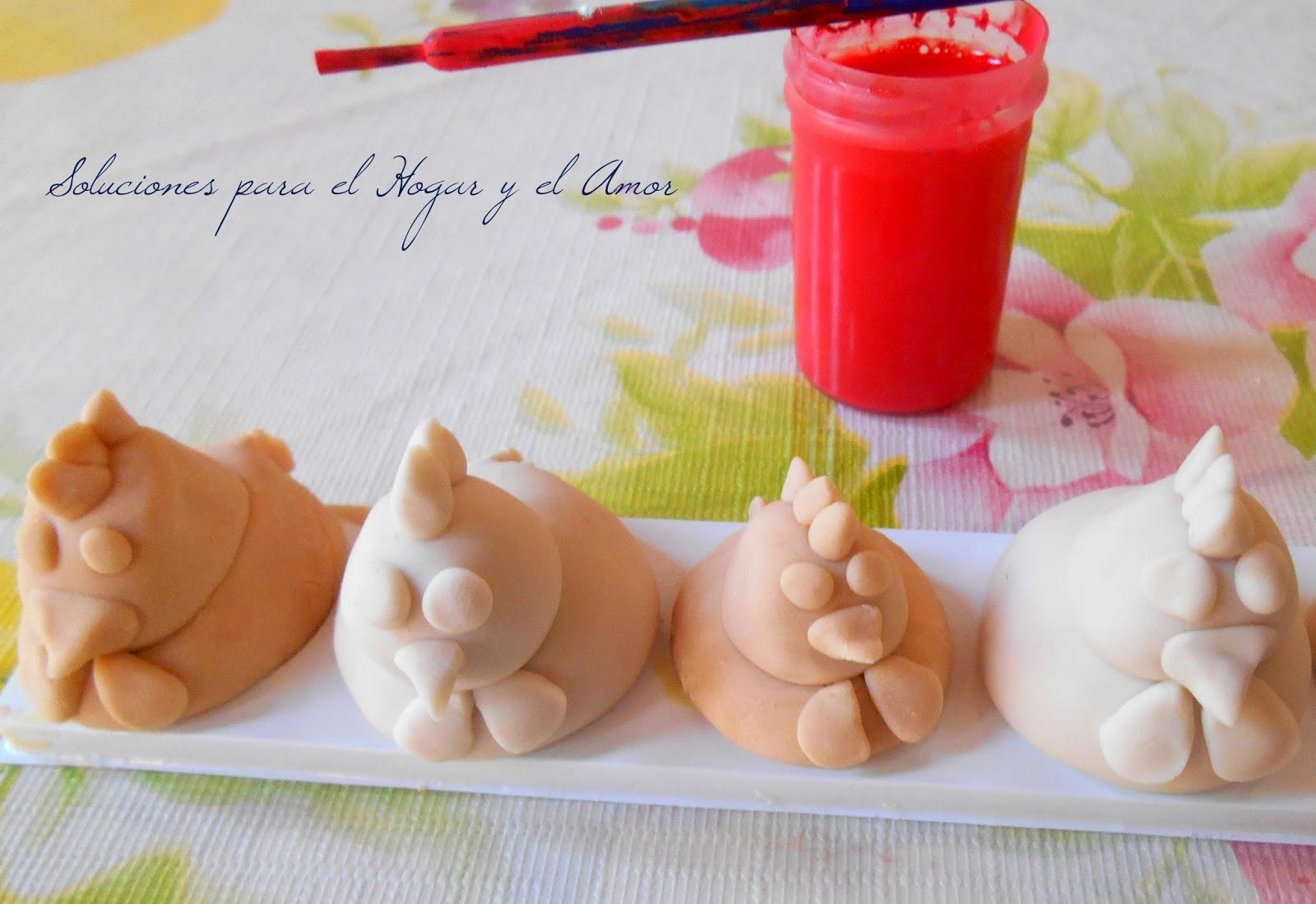 Soluciones para el hogar y el amor gallinitas con pasta - Pasta de fimo ...