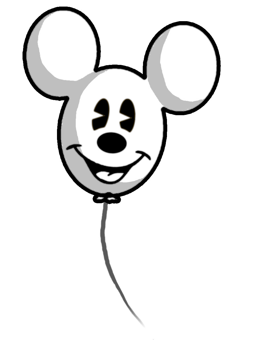 White Ghost Balloons Mickey Mouse Ghost Balloon