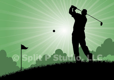golf vector art