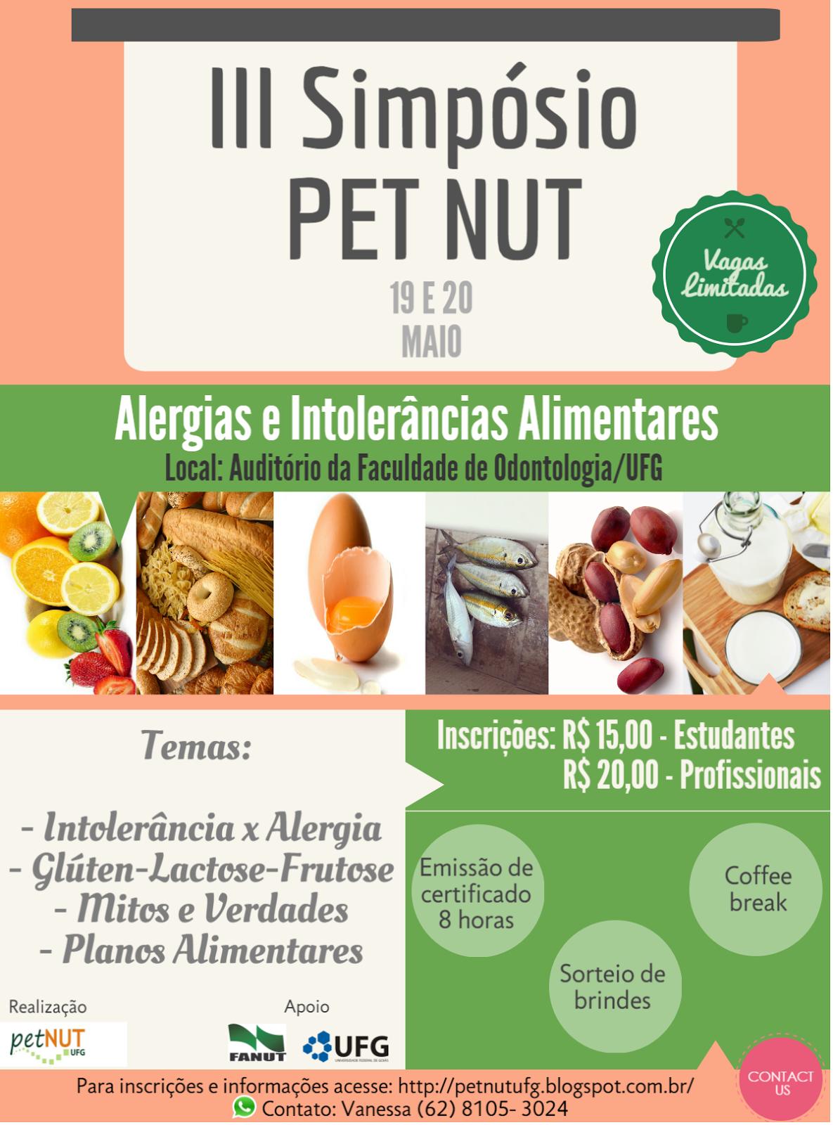 III Simpósio PET NUT: Alergias e Intolerâncias Alimentares
