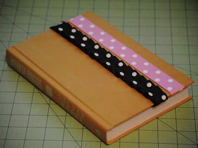 Squidink sm robertson 5 nifty homemade bookmarks for How to tie a ribbon on a bookmark