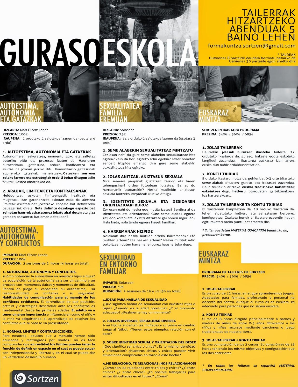 Actividades Solasean Sexología, Pamplona, Navarra, Sortzen