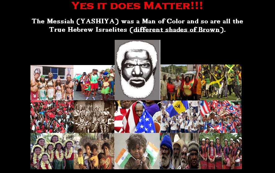 Christ was a Man of Color - Hebrew Israelites are People of Color (Different Shades of Brown Skin)