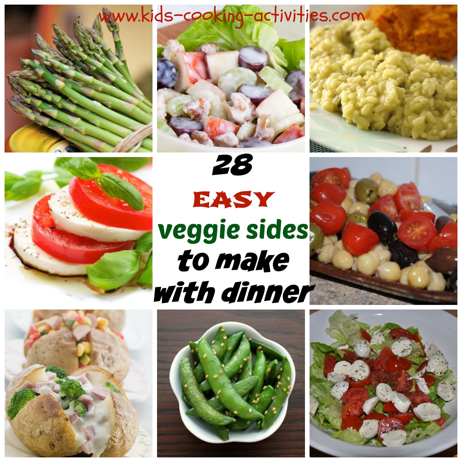 28 easy veggie sides to make with dinner for Easy things to make for dinner for two