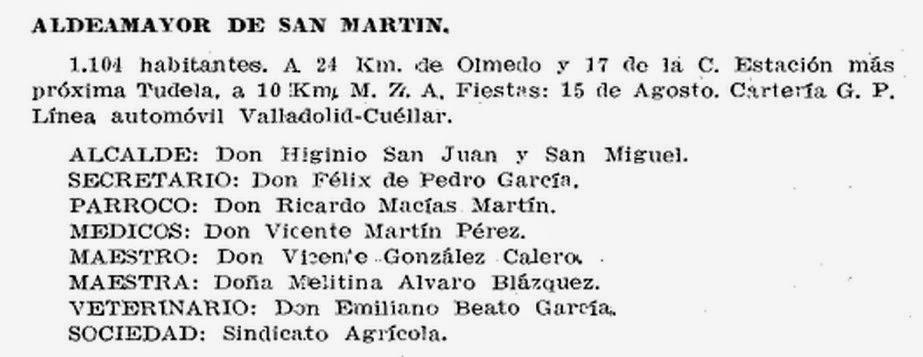 Guía-anuario de Valladolid y su provincia 1927 de la Casa Santarén, página 469, detalle
