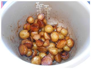 Pommes de terre nouvelles caramélisées au porto (au multicuiseur)