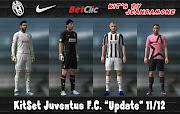 KitSet Nike Juventus F.C. 11/12 *Update* 1° Kit para PES 2012