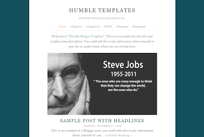 Humble Templates Blogger by Hardianysah Hamzah