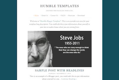 Humble Templates Blogger by Hardianysah Hamzah