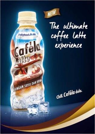 Minuman kopi Latte Cafela