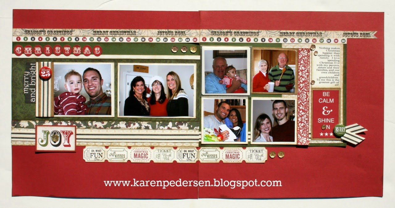 December Play Group Scrappin' Class Layouts (Yuletide Carol)