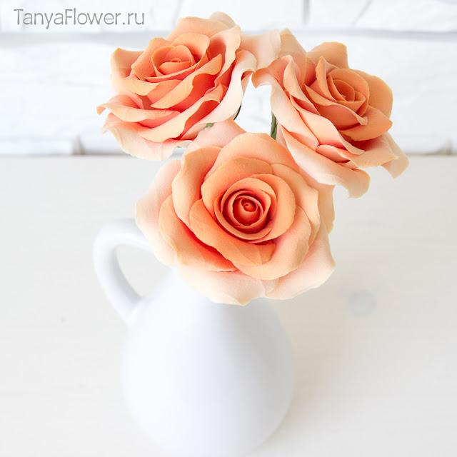 цветы из полимерной глины ручной работы