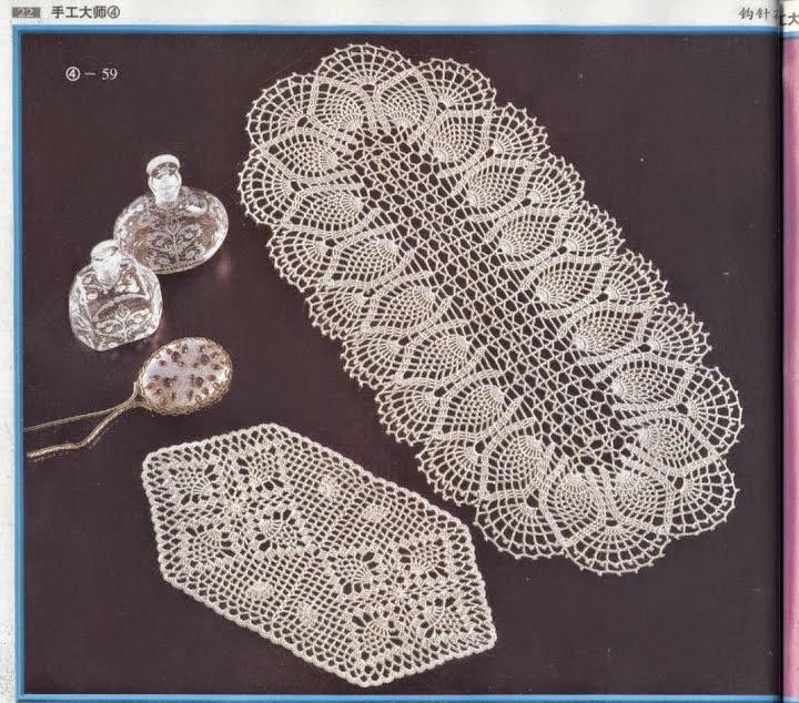 Patrones crochet de Centro de Mesa Ovalado | Crochet y Dos agujas