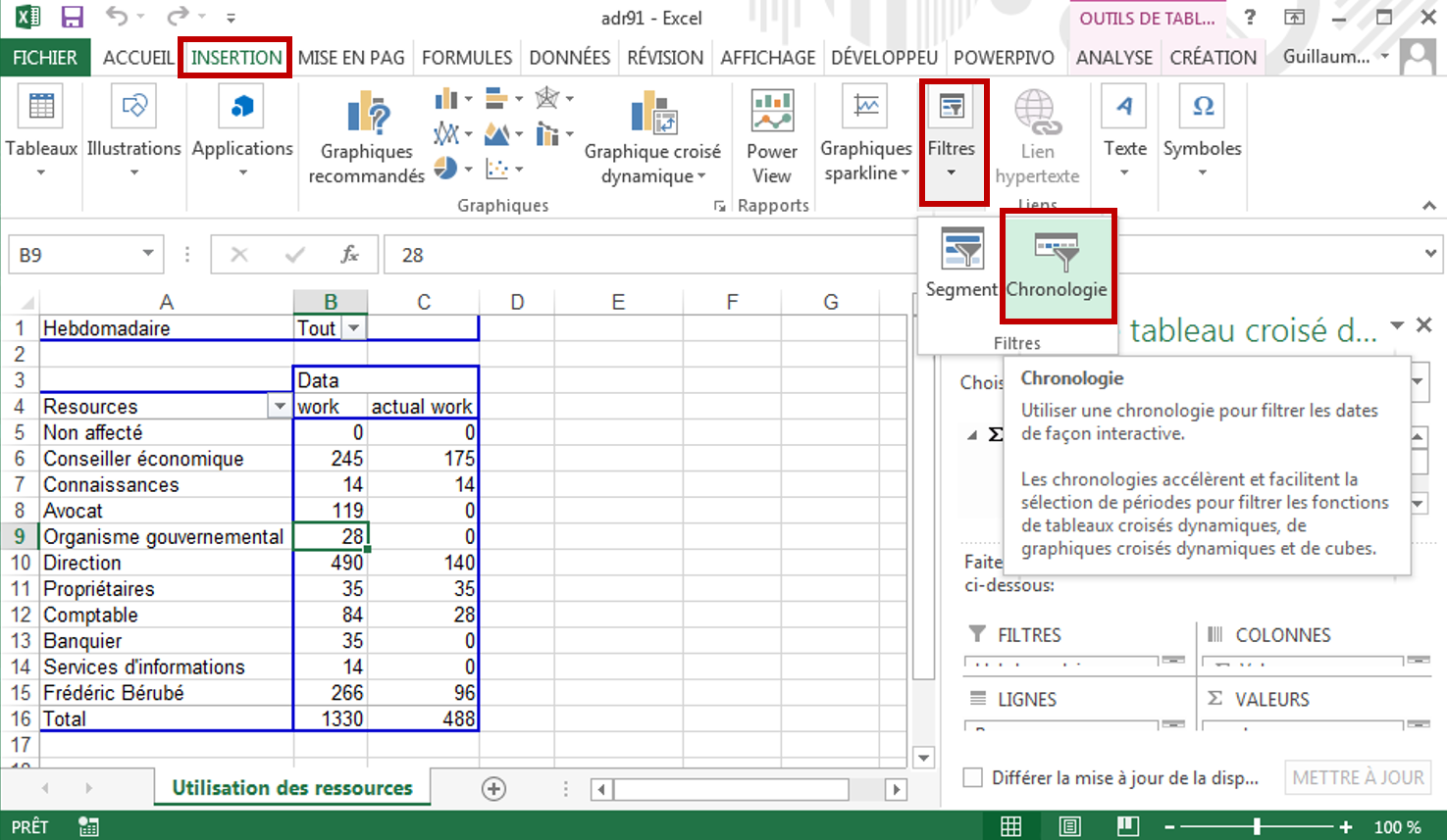 how to create a timeline in excel 2013