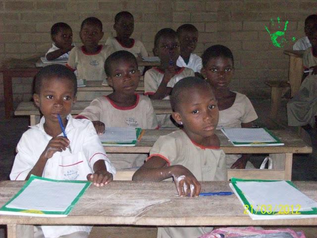 Classe della scuola primaria del villaggio di Atchanvé - Togo - Africa