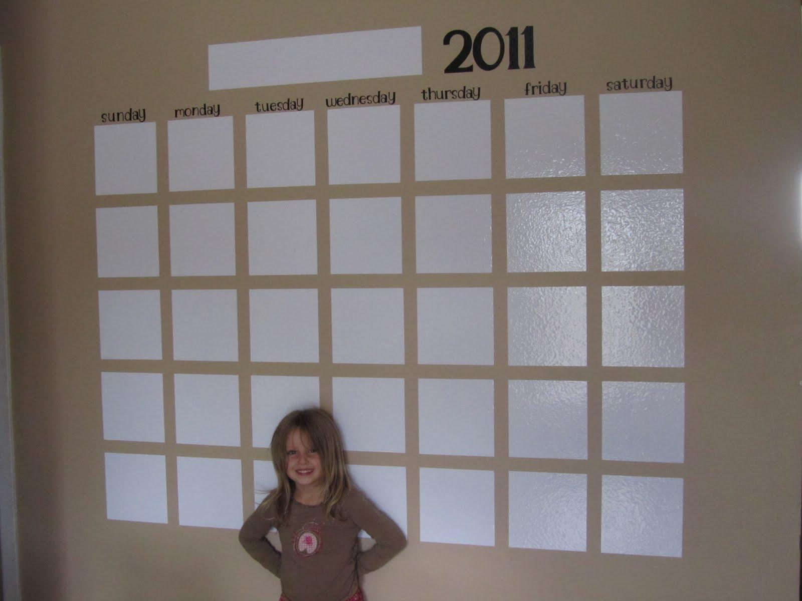 6 And Still Sane Huge Wall Calendar Tutorial