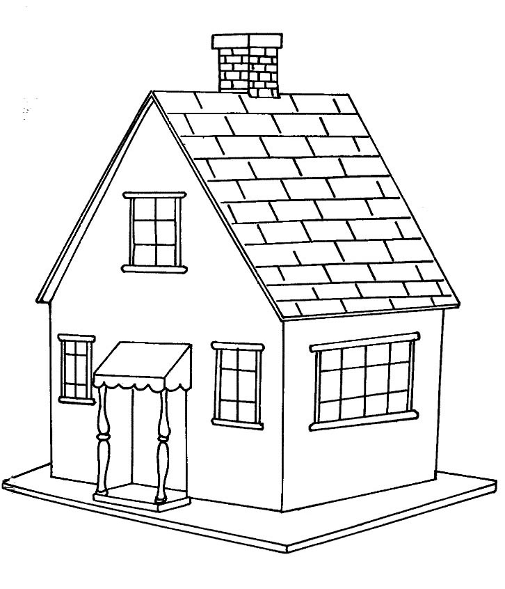 Desenhos de casas para colorir e pintar desenhos para - Casa para pintar ...