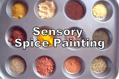 Sensory Painting with Spices for Toddlers