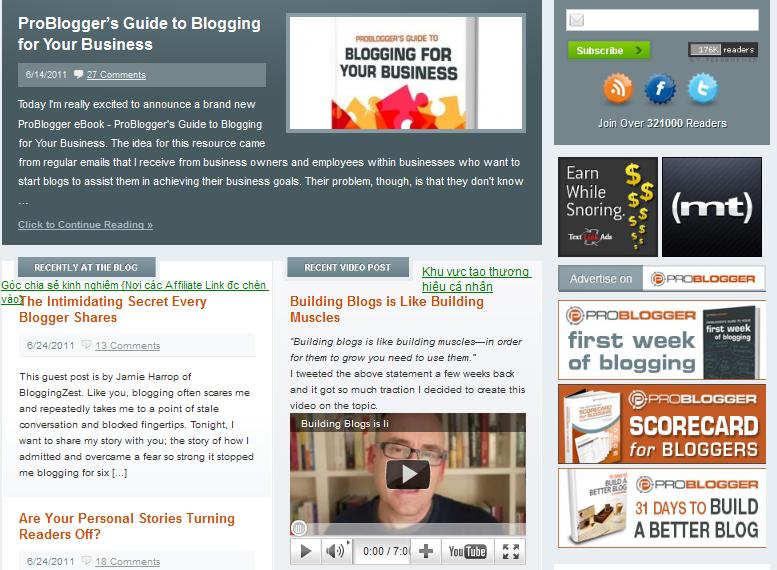 Giao diện đơn giản-Bố cục hài hòa-Phong cách Blog chia sẻ kinh nghiệm hơn là 1 MMO Blog