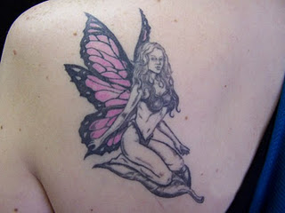 Arm fairy tattoos for girls all about for Red tattoo ink problems