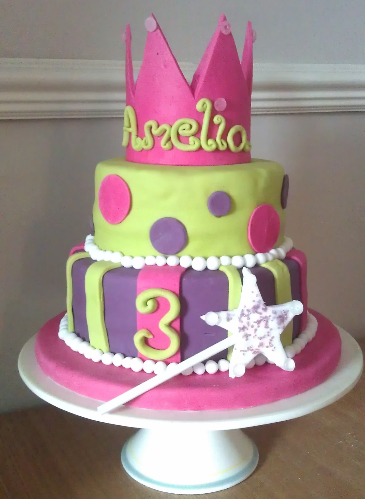 Fairy Princess Cake Images : My Little Kitchen: Fairy Princess Birthday Cake