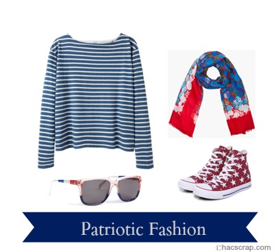 Red White and Blue Casual Style