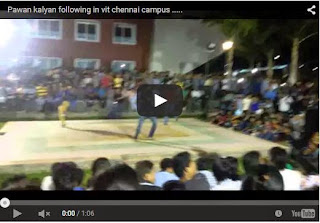 Pawan kalyan Craze in VIT Chennai Campus | Every Pawan Kalyan Fan Must Watch And Share | HD Video