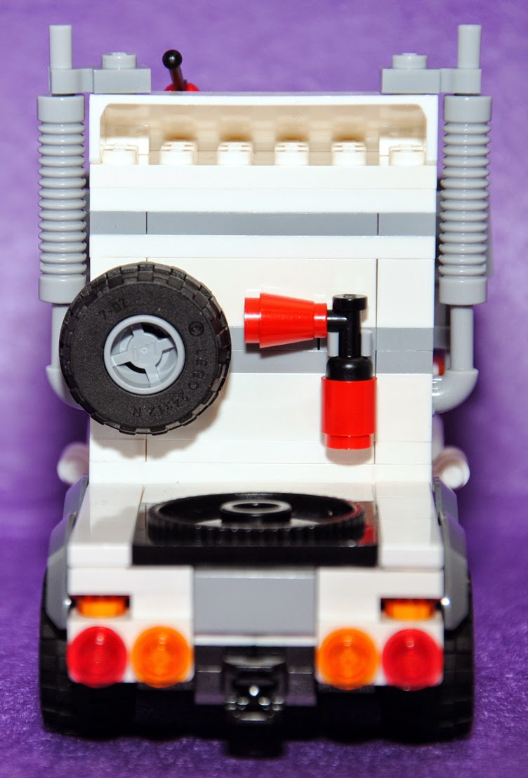 Vista posterior de la cabeza tractora