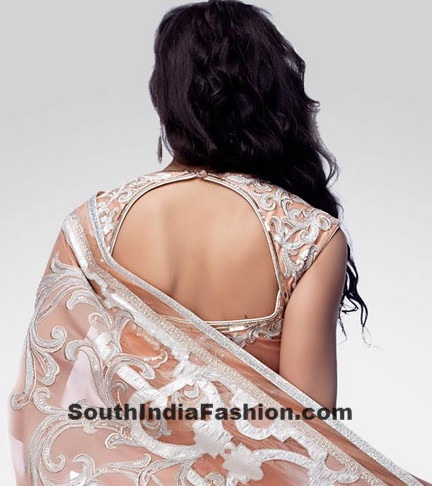 saree blouse back neck designs �south india fashion