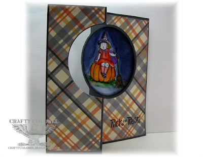 Crafty Colonel Donna Nuce, Stampin'Up! Thinlits Circle Card Die, Greeting Card Kids and Best of Halloween.  Halloween Card