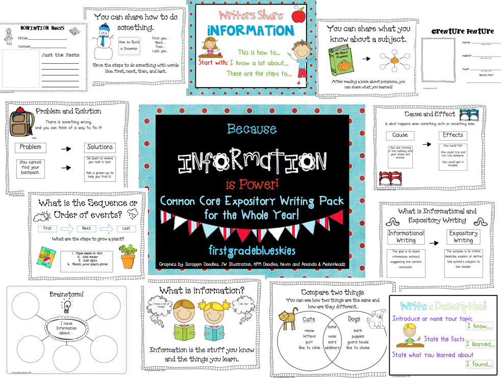 expository writing first grade The best collection of free expository writing prompts and expository essay  the first book in a  expository writing prompts for your fourth grade.