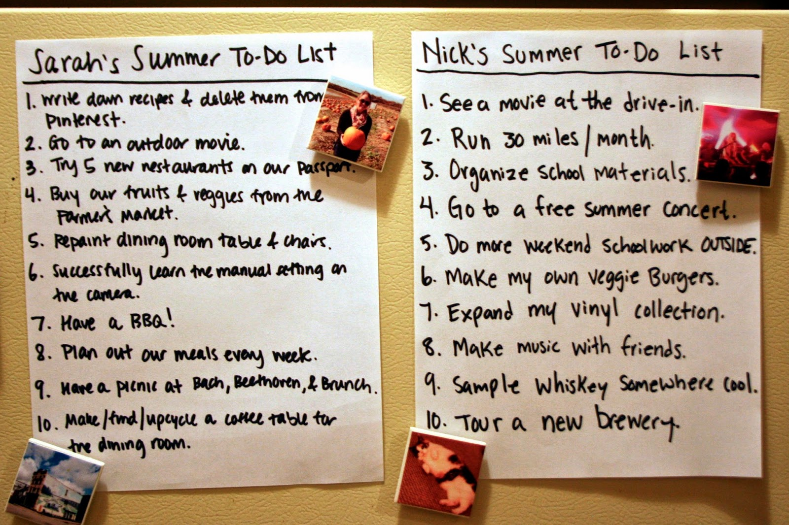 our summer to do list the surznick common room