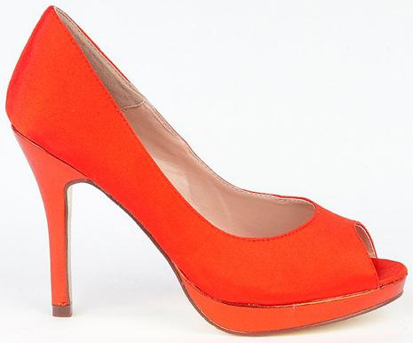 peep toes rojos