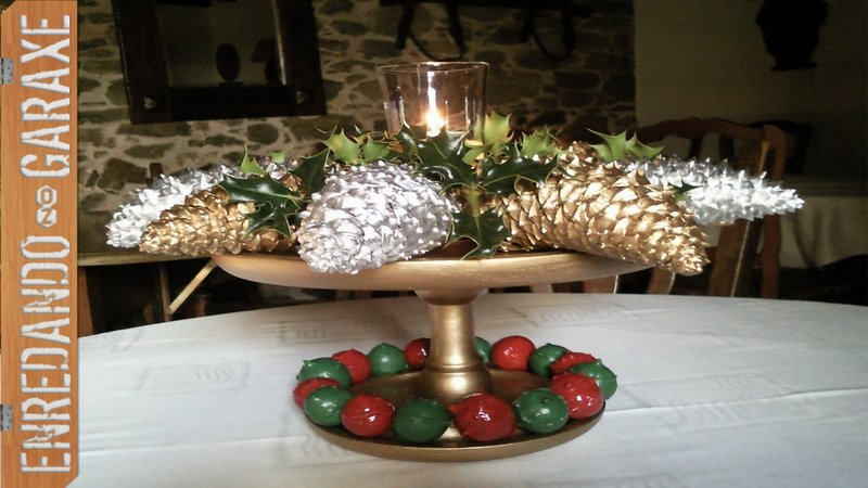 Ver como hacer adorno de navidad para centro de mesa, 2011, enredandonogaraxe.com