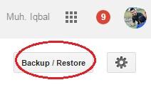 backup restore template blogger