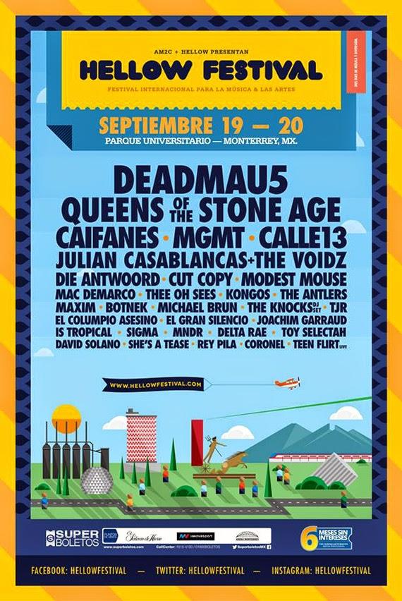 Bandas Hellow Festival 2014 Monterrey