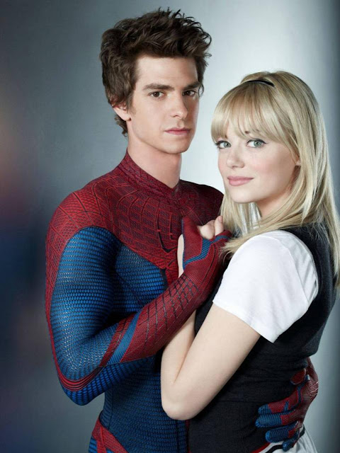 Andrew Garfield Emma Stone Blonde Spideman Amazing 2012