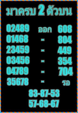 Thai lottery pair and touch game 16 01 2015 thai lottery 007 lotto