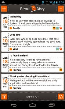 Private DIARY Android Apk - Screenshoot