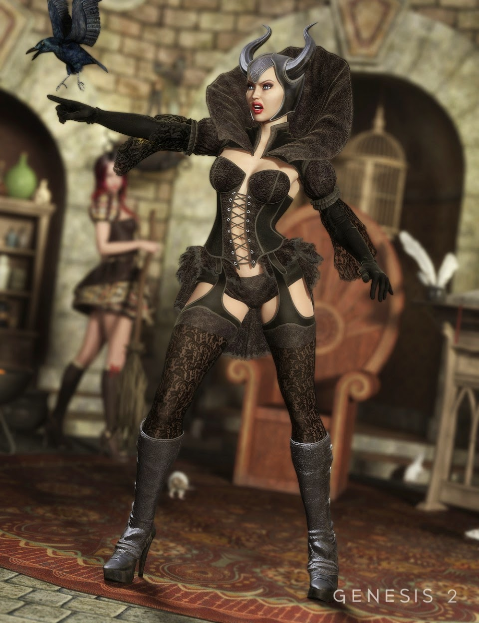 3d Models Art Zone - The Sinful Witch for Genesis 2 Female(s)
