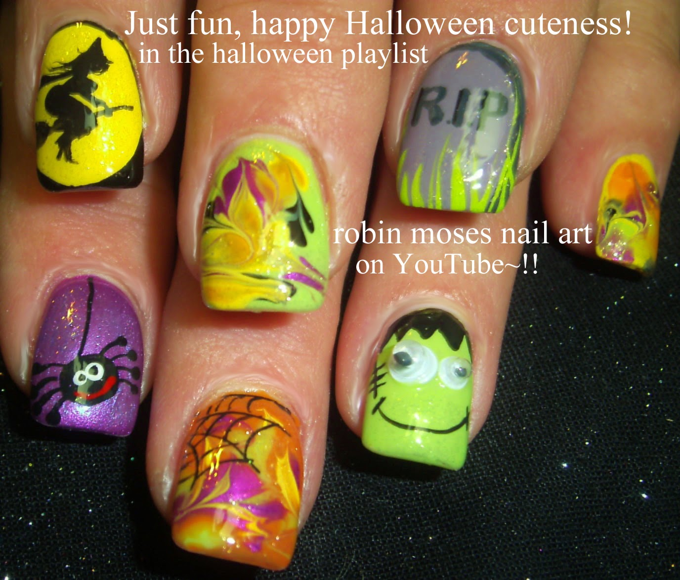 Robin moses nail art halloween nails cute halloween ideas easy halloween ghost witch and owl nails solutioingenieria Choice Image