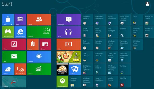 ... - coba instal windows 8, tampilan memang agak beda dengan windows 7