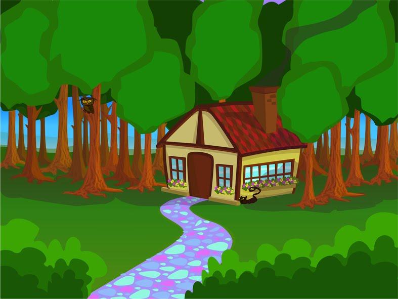 Juana bosque en illustrator - Casitas en el bosque ...