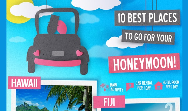 10 best places to go for your honeymoon infographic for Best places to go on your honeymoon