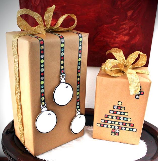 Crea momentos semana 59 envoltorios de navidad con washi - Ideas para decorar con washi tape ...