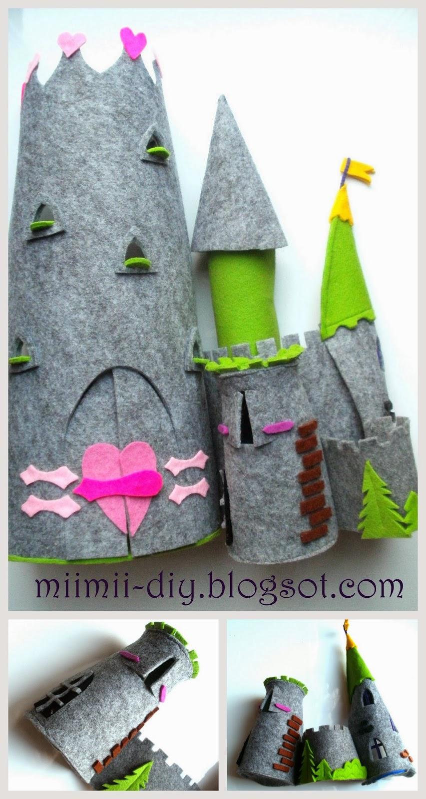 Zamek z filcu DIY – zrób prezent swojemu dziecku.